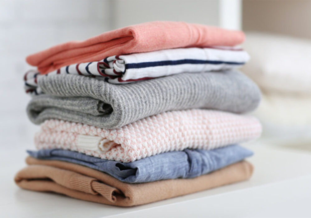 Pile of jumpers, textiles, apparel, fabric