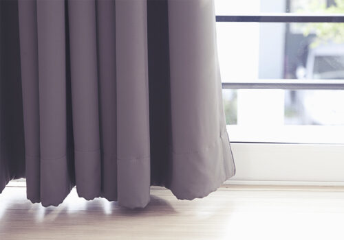 Curtains by a window