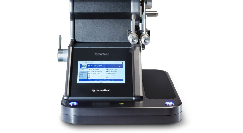 ElmaTear digital elmendorf tear tester close up