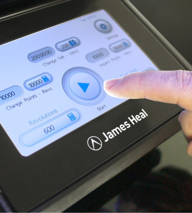 James Heal touchscreen with TestWise operating system