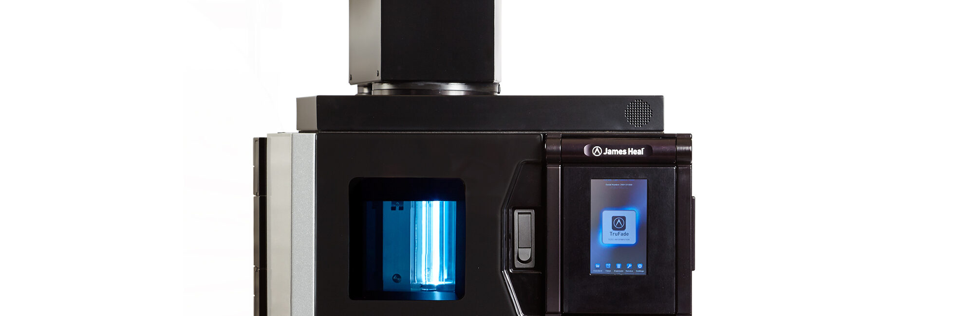 James Heal TruFade xenon arc light fastness tester header image