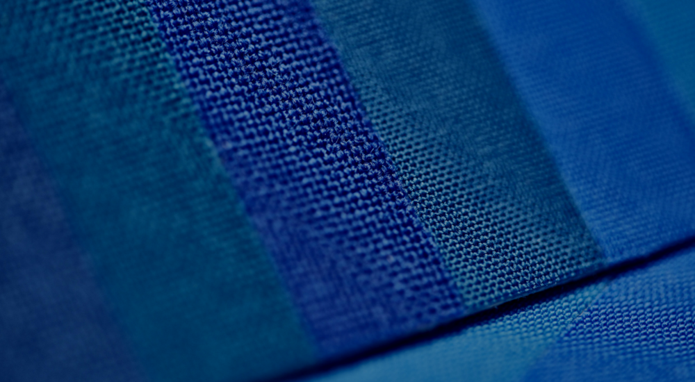 James Heal blue wool standards close up