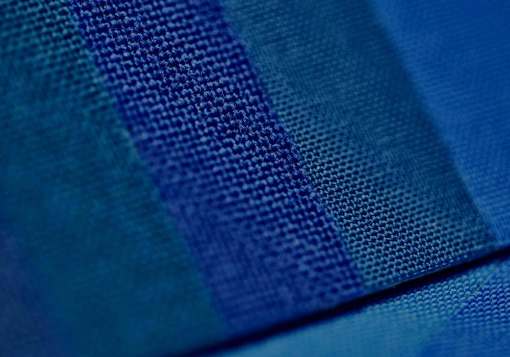 James Heal blue wool standards close up
