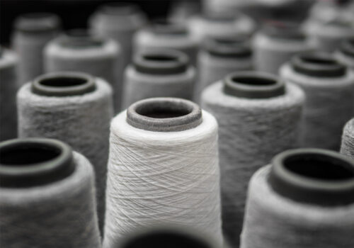 grey and white yarns, textile testing components