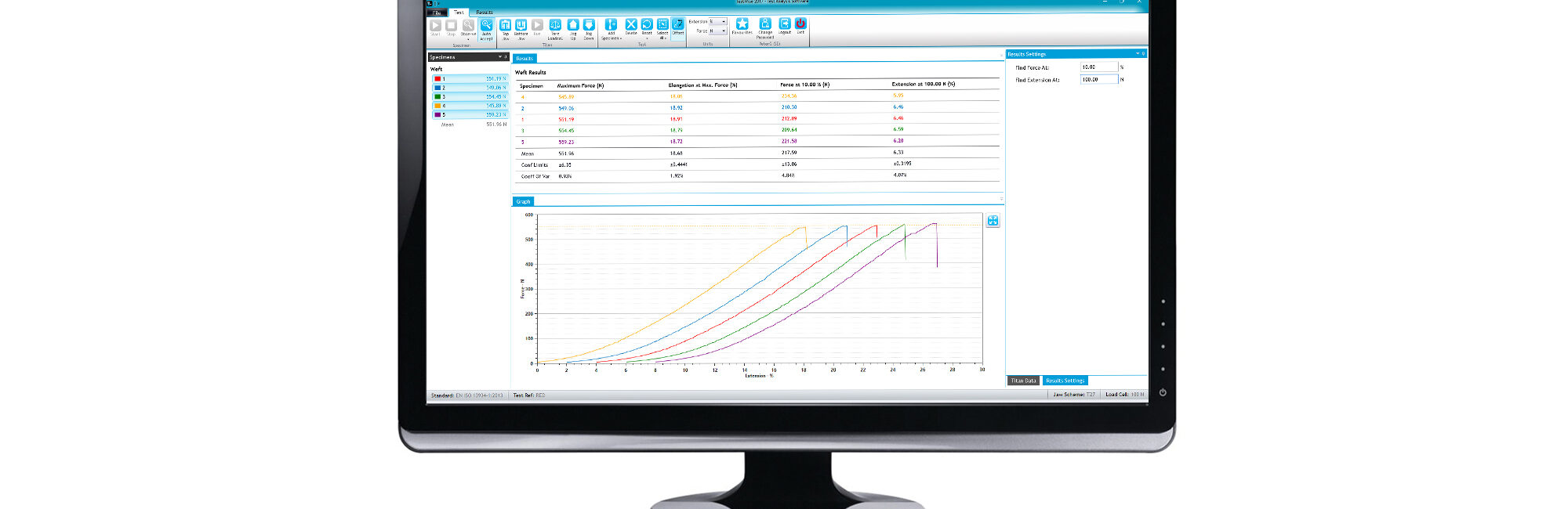 testwise software for textiles testing