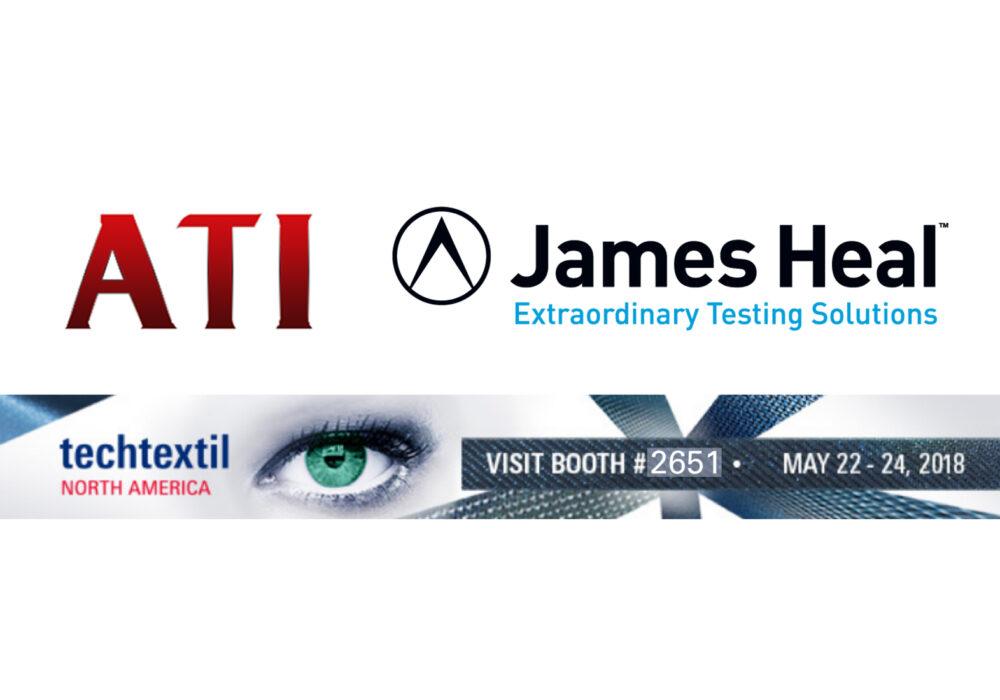 James Heal ATI at textile testing exhibition