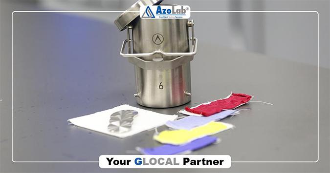 AzoLab GyroWash pot with textiles