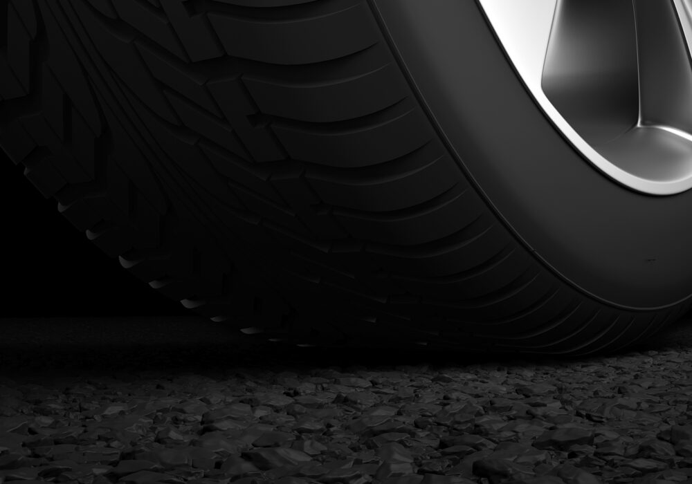 tyre on road indian rubber expo