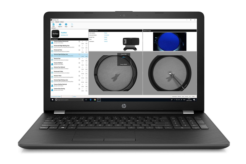 WickView Moisture Management Tester Software laptop