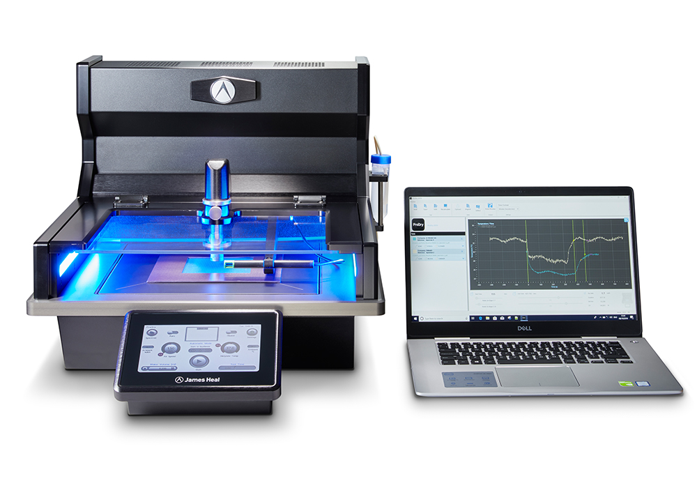 ProDry dry rate tester with laptop for testing