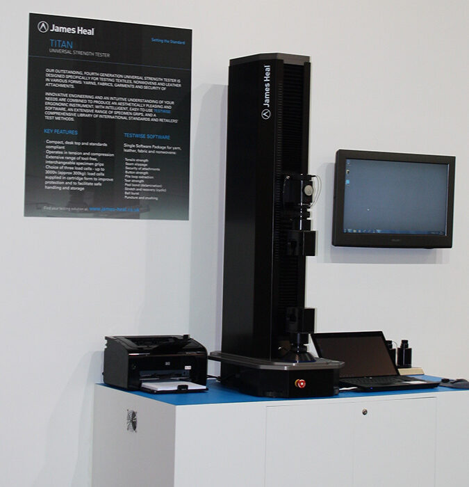 Titan 4 universal strength tester at ITMA Barcelona 2011