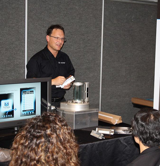 Neil Pryke demonstrating at ITMA 2011