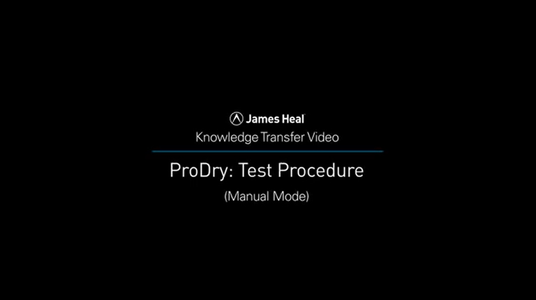 ProDry dry rate tester manual mode video